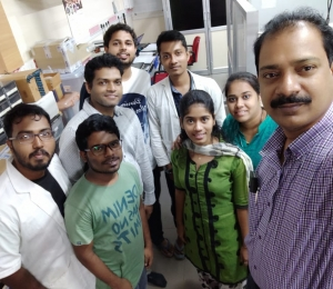 Our alumni Dr Manas Ranjan Dash visited his lab once again