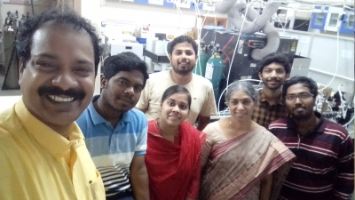 With Dr. S. Dhanya, Radiation and Photochemistry division, BARC
