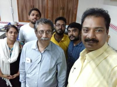 With Shanti Swarup Bhatnagar awardee Sourav Pal from IISER Kolkata
