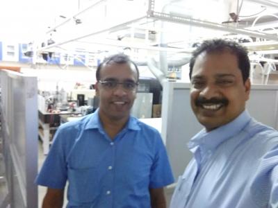 With Dr. Kana M. Sureshan of IISER Thiruvananthapuram