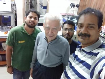With Prof. Dr. h. c. mult. Herbert W. Roesky, an internationally renowned inorganic chemist