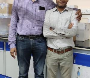 Our alumni Dr Manas Ranjan Dash's visit to the lab