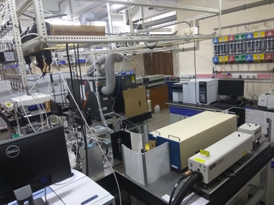 The instruments required to study the gas phase atmospheric chemical kinetics and spectroscopy